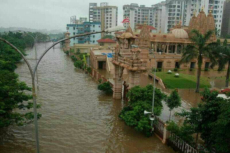 Heavy Rain In Major Cities Of Gujarat