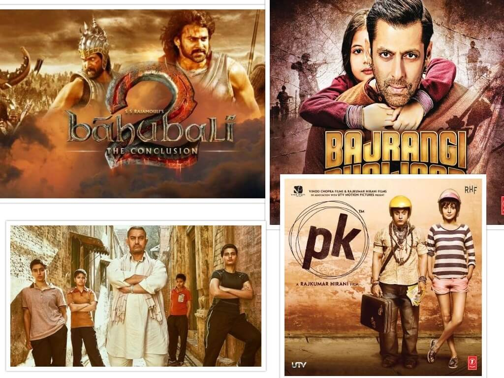 Bollywood Films with the highest grossing in India