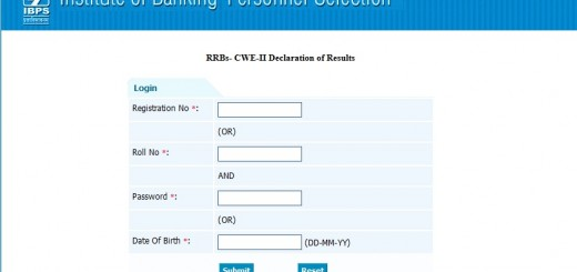 RRBs Exam Result at IBPS.in