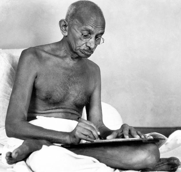 gandhi writing letter