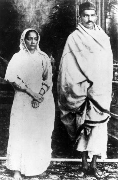 mahatma gandhi and wife