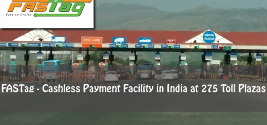 FASTag-Cashless Payment Facility in India at 275 Toll Plazas