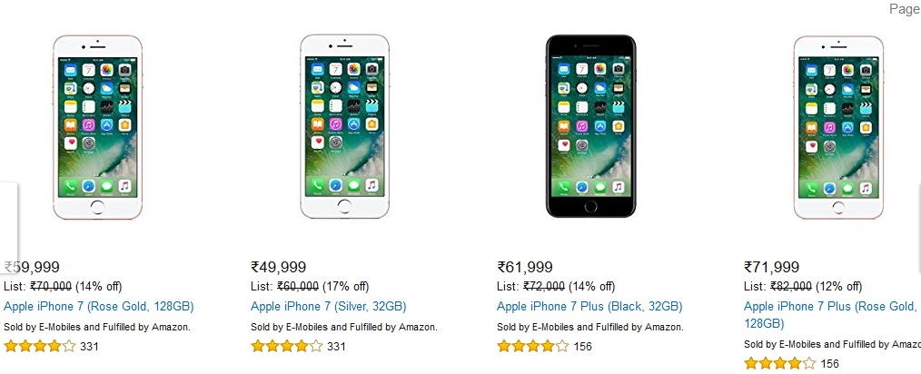 iPhone 7 plus sale in India