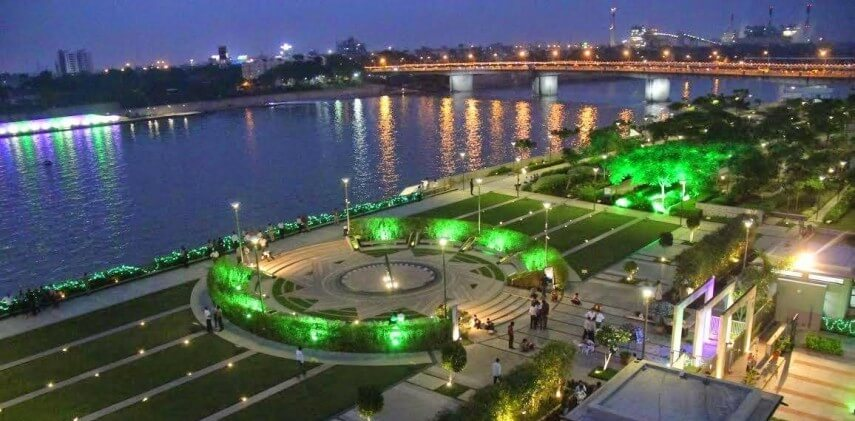 Sabarmati Riverfront Summer Festival 2018 Night View