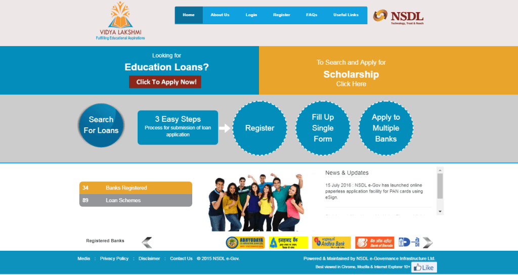 Education Loan Scheme by Narendra Modi – Vidya Lakshmi Portal